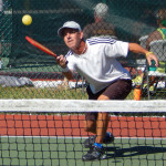 Awesome save at Men's Doubles Pickleball Tournament 50+ Tampa Bay Senior Games 2013, Sun City Center, FL [DAY TWO: Saturday, October 26, 2013]