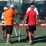 Game ends at Men's Doubles Pickleball Tournament 50+ Tampa Bay Senior Games 2013, Sun City Center [DAY TWO: Saturday, October 26, 2013]