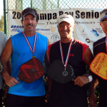 Gold and Silver Medal Winners Mens 50+ Doubles PickleballTournament Tampa Bay Senior Games 2013, Sun City Center, FL