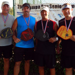 Gold and Silver Medal Winners of Mens 50+ Doubles PickleballTournament Tampa Bay Senior Games 2013, Sun City Center, FL