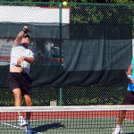 JUMP SHOT by Mike Pascal with Bob Zinsmaste in Mens Doubles Pickleball Tournament 50+ Tampa Bay Senior Games 2013, Sun City Center [DAY TWO: Saturday, October 26, 2013]