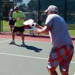 Arthur Chilvers & John Sprainiti win 1st in Men's 70 + Doubles Pickleball Tournament at 2013 Tampa Bay Senior Games, Sun City Center, Florida [DAY ONE: Friday, October 25, 2013]