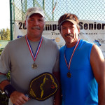 Mike Pascal and Bob Zinsmaste Golf Medal Mens 50 + Doubles Pickleball Tournament Tampa Bay Senior Games 2013, Sun City Center, FL