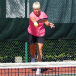 Overhand hit in Womens Pickleball Tournament Tampa Bay Senior Games 2013 Sun City Center