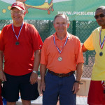Winner 65 plus Men's Doubles Pickleball at 2013 Tampa Bay Games, Sun City Center, Fl: 1st Raymond-VanVoorhies, 2nd Chrichlow-Johnson, 3rd Fagerburg-Benkoski [DAY ONE: Friday, October 25, 2013]