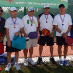 Winners 75 plus Pickleball Collin Martens, Mel Gass, John Maddaloni, John Marinchek, Sam Montana, Vincent Quintalino, Tampa Bay Games 2013 [DAY ONE: Friday, October 25, 2013]