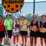 Winners Womens 60 + Pickleball Tournament at Tampa Bay Senior Games 2013 Sun City Center