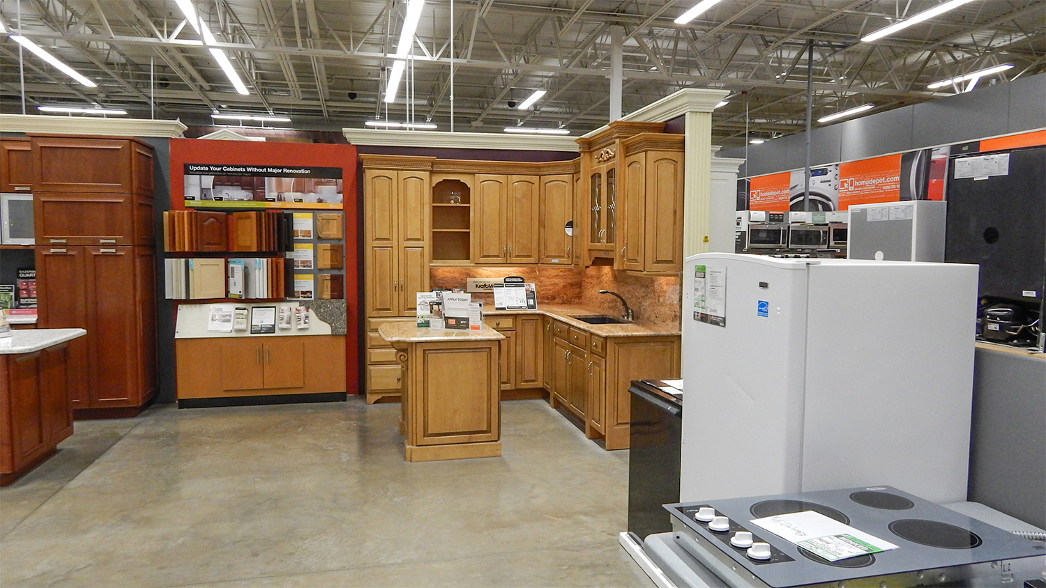 Home depot guarantees to beat competitors price by 10 for Kitchen cabinets home depot